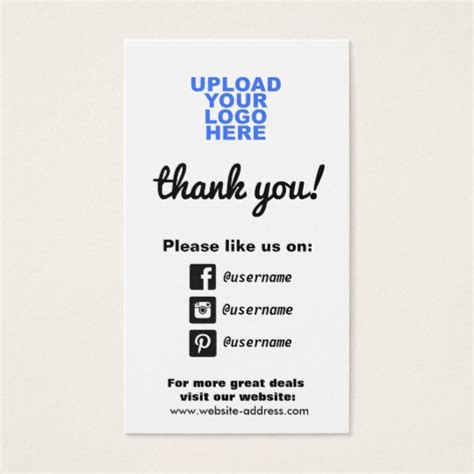 business cards with social media icons template customer appreciation social media icons business card