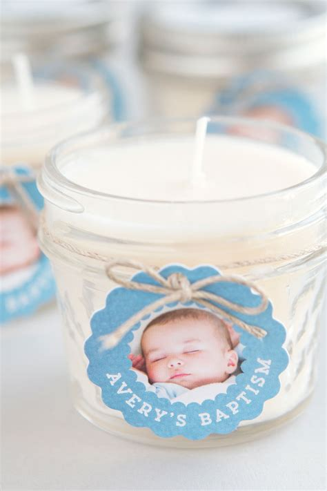 Handmade Baptism Favors - baptism favor candles easy diy handmade favors