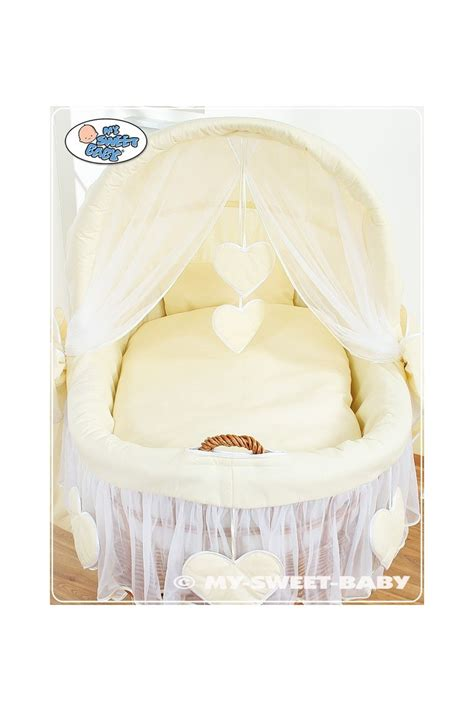 Crib Moses Basket by Wicker Crib Moses Basket Hearts