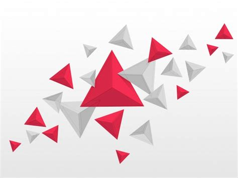abstract geometric design elements vector abstract triangles elements in red and grey colors flying