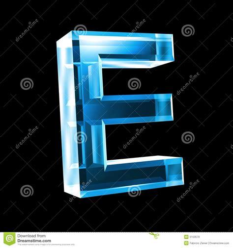 imagenes en 3d en vidrio letra e en el vidrio azul 3d foto de archivo imagen 5153570