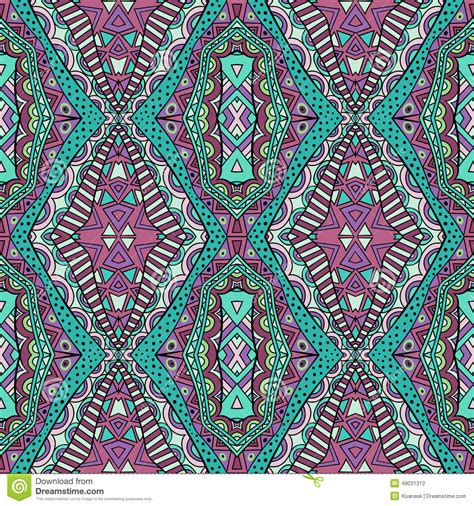 tribal pattern carpet trendy colors ethnic carpet seamless pattern stock vector