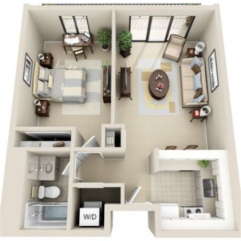 Small One Bedroom Apartment Ideas 220 Ber 1 000 Ideen Zu Wohnungsgrundrisse Auf Sims