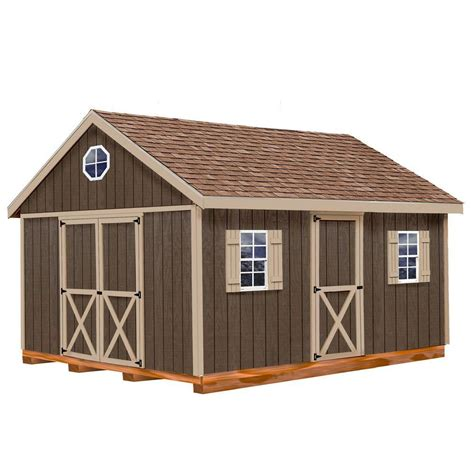 10 X 16 Wood Shed Kit With Floor - best barns easton 12 ft x 16 ft wood storage shed kit