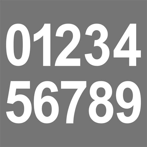 Aufkleber Zahlen Hausnummer by 5 St 252 Ck 8cm Wei 223 Wunschziffer Aufkleber Hausnummer