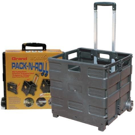 Pack N Roll: Large Folding Crate on Wheels   Collapsible Crate