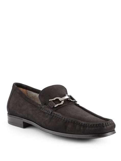 bruno magli suede loafers bruno magli mikko suede bit loafers in black for lyst