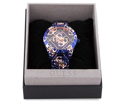 Guess Laila W0734l1 Baby Blue Original guess s 40mm logo crazed blue gold great daily deals at australia s