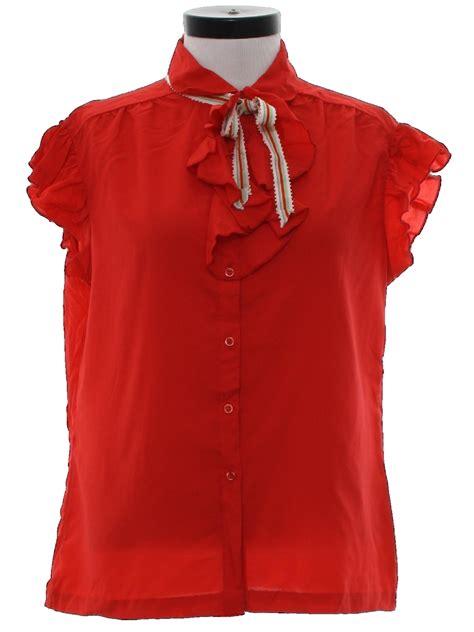 detachable ribbon shirt 1980 s shirt ship n shore 80s ship n shore womens