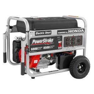 powerstroke 6 800 watt gasoline powered electric start