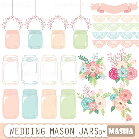 Jar Wedding Clipart jar clipart quot wedding jar quot with jar clip