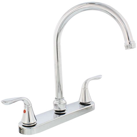 new kitchen faucets new aqua plumb 1558030 chrome plated 2 handle gooseneck kitchen faucet ebay