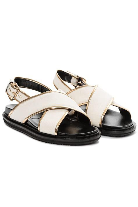 marni sandals marni fussbett sandals in beige perl lyst