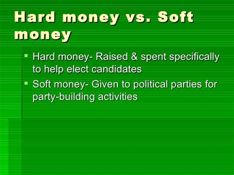 Polls For Money - chapter 7 section 3 money and elections