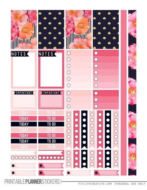 free printable planner set 25 best ideas about printable planner stickers on