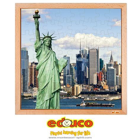 Puzzle 3d Statue Of Liberty Usa Ori 100 usa puzzle statue of liberty 64 pieces montessori spirit