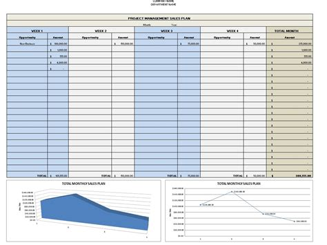 sales plan template sales plan template excel excel templates