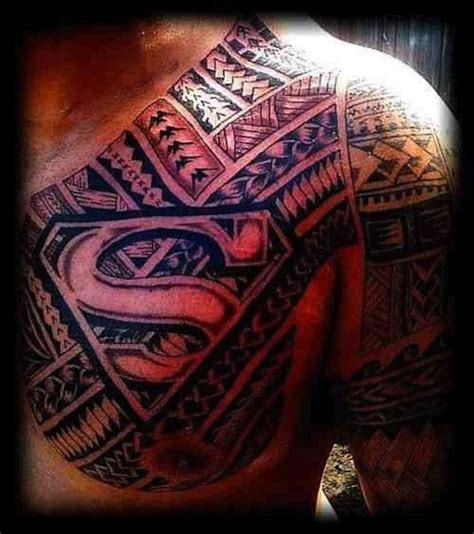 superman chest tattoo 10 stunning superman tribal tattoos only tribal