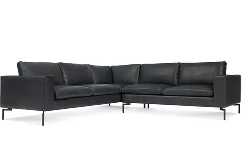 small leather sectional sofas new standard small sectional leather sofa hivemodern com