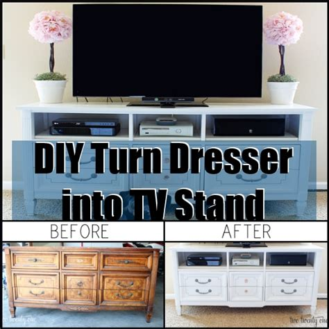 How To Turn A Dresser Into A Tv Stand by Turn Dresser Into Tv Stand