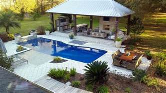 delightful Outdoor Wet Kitchen Design #1: swimming-pool-with-large-cabana-with-outdoor-kitchen-wet-bar-fireplace-and-outdoor-entertainment-center.jpg