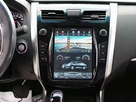 vertical screen android navigation radio  nissan altima teana   cars