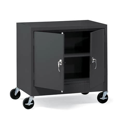 mobile metal storage cabinet atlantic metal mobile storage cabinet 36x24x48 set up