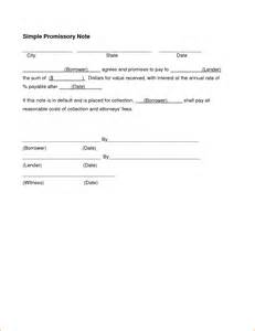 5 simple promissory note template teknoswitch