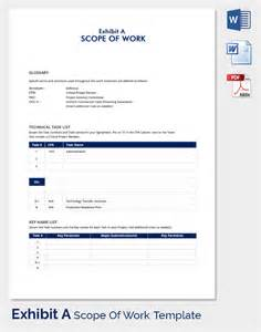 works templates scope of work template 31 free word pdf documents