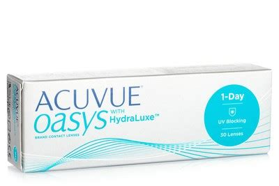 acuvue oasys 1 day with hydraluxe (30 lenses) | lentiamo.co.uk