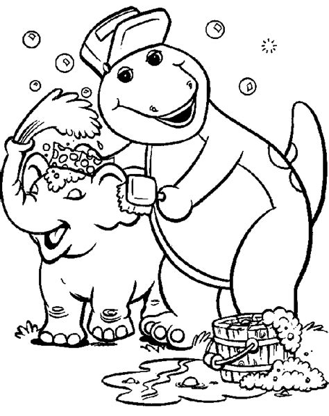 barney and friends barney the dinosaur barney coloring pages