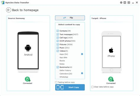 transfer contacts  samsung android  iphone