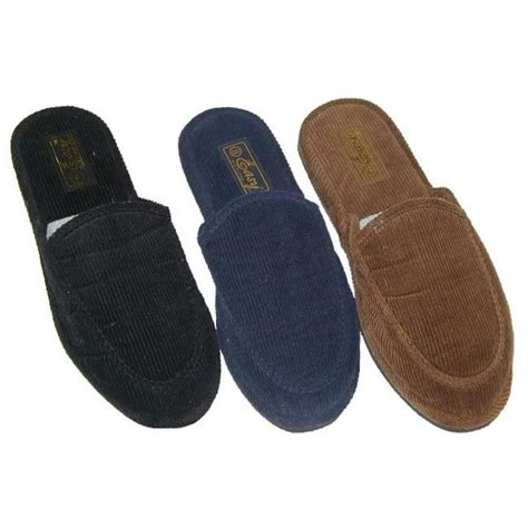 corduroy house slippers men s corduroy house slippers case of 48 pair free shipping today overstock com
