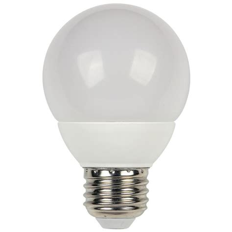 Led Light Bulb Equivalent Westinghouse 60w Equivalent Warm White G19 Dimmable Led Light Bulb 0319200 The Home Depot