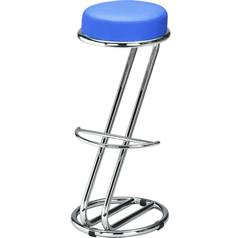 Blue Stools by Zeta Chrome Bar Stool Blue Drinkstuff