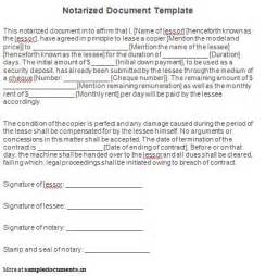 Does A Gift Letter Need To Be Notarized Best Photos Of Notarized Document Template Sle