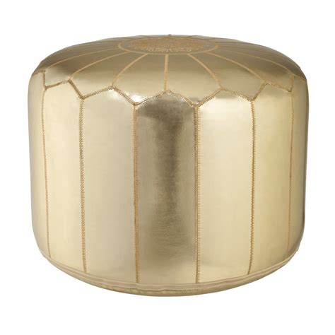 gold ottoman pouf dolce dreams april 2011