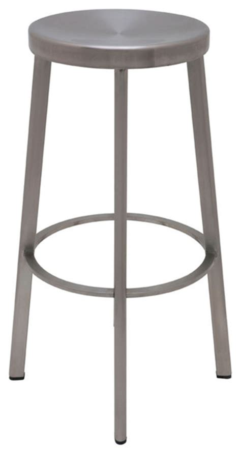 modern bar stools stainless steel industry polished stainless steel bar stool by nuevo