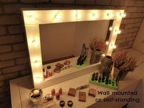 hanging mirror with lights 1000 ideas about lighted vanity mirror on pinterest diy