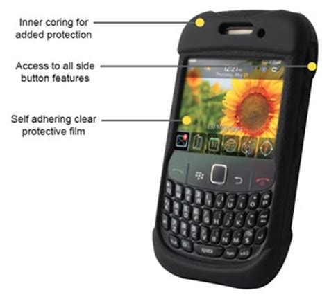 Otterbox Gemini Blackberry 8520 otterbox blackberry curve 8500 9300 impact series retail packaging black