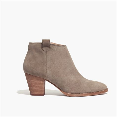madewell billie boot lyst madewell the billie boot in suede
