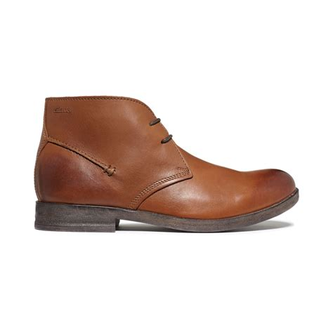 brown chukka boots clarks goby hi chukka boots in brown for brown