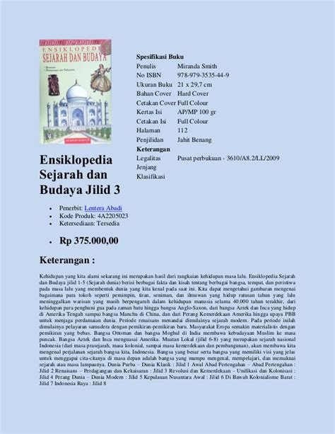Pengantar Sejarah Kebudayaan Indonesia Jilid 3 Soekmono buku referensi sejarah budaya dipasarkan oleh perusahaan penyedia