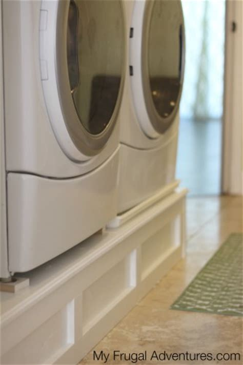 How To Build A Washer And Dryer Pedestal My Frugal How To Build A Laundry