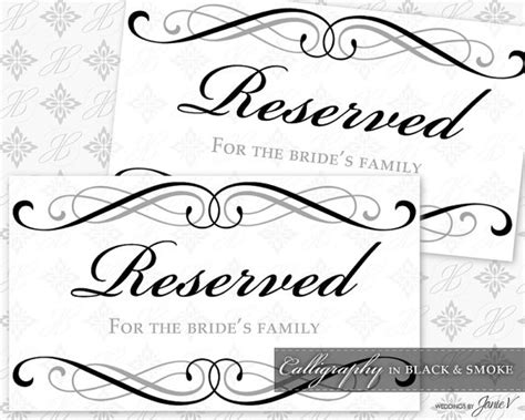 wedding sign templates free wedding reserved sign template www pixshark images