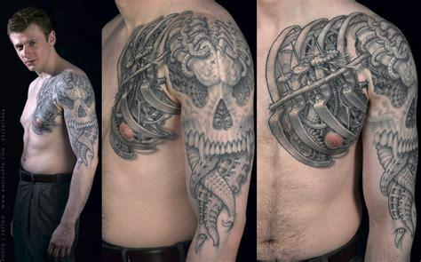 biomechanical wrist tattoo biomechanical tattoos