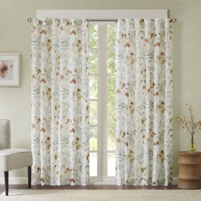floral drapery panels buy floral window curtains from bed bath beyond