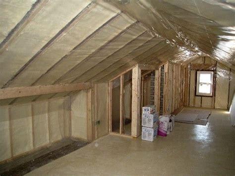 loft insulation attic room renovation knee walls and insulation small attic