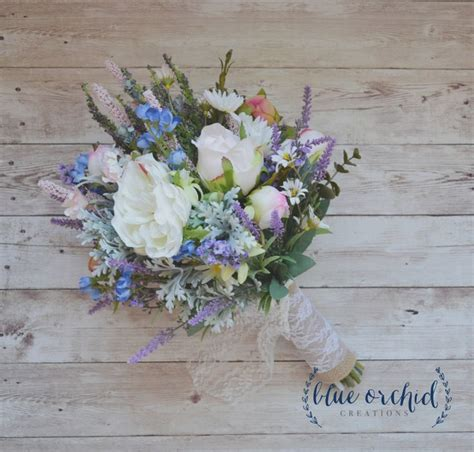 Wedding Bouquets Bc by Wildflower Boho Bouquet With Lavender Blue Blossoms And