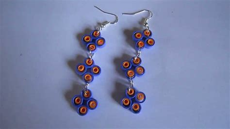 How To Make Earrings From Paper - handmade jewelry paper quilling earrings not tutorial